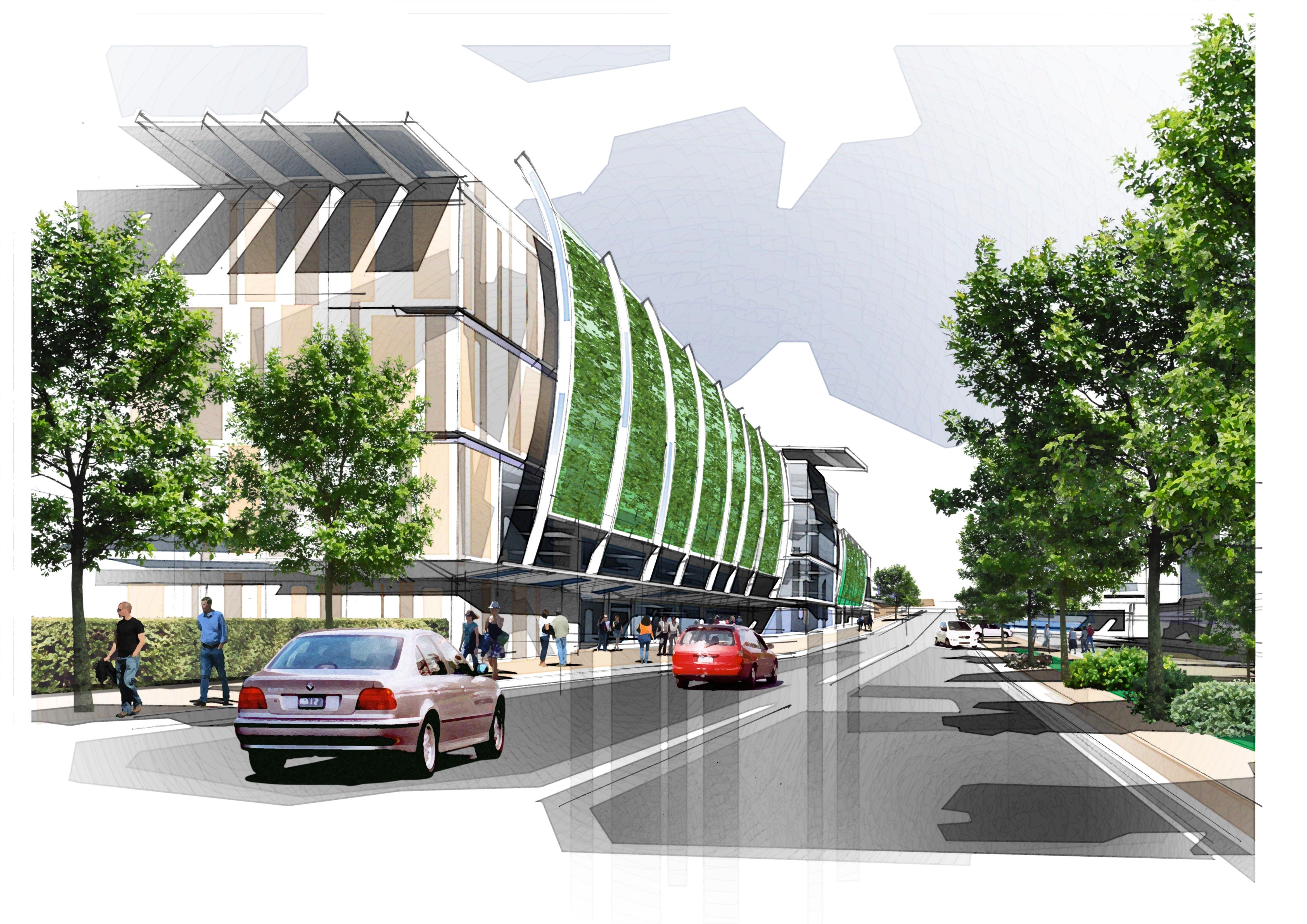 Grandstand Designs : Moonee valley draft redevelopment master plan gt australia